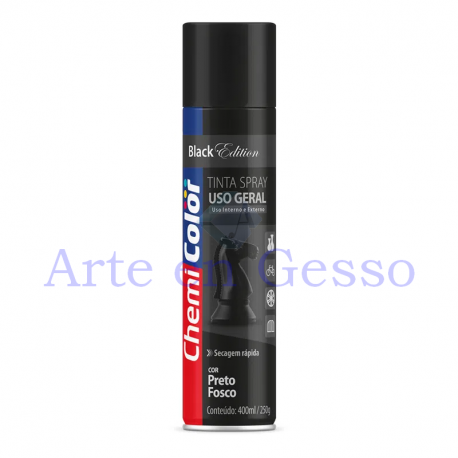 TINTA SPRAY PRETO FOSCO - 350ML