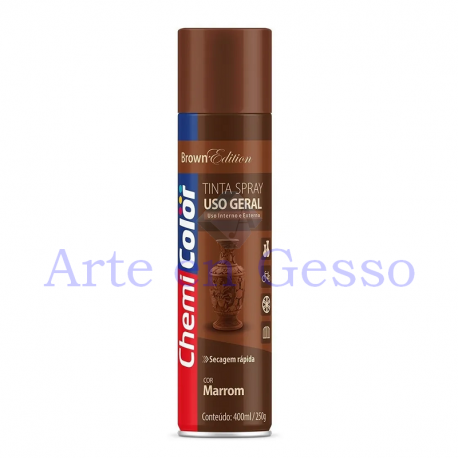 TINTA SPRAY MARROM - 400 ML