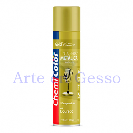 TINTA SPRAY METALICA DOURADA - 400 ml
