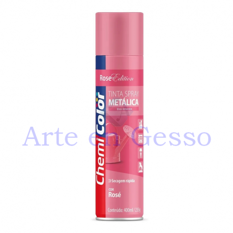 TINTA SPRAY METALICA ROSE - 400 ML