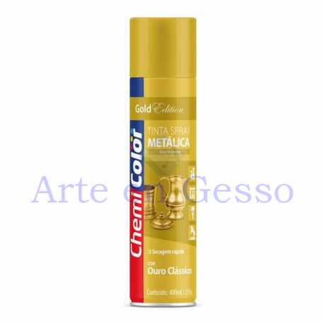 TINTA SPRAY METALICA OURO CLASSICO - 400 ML