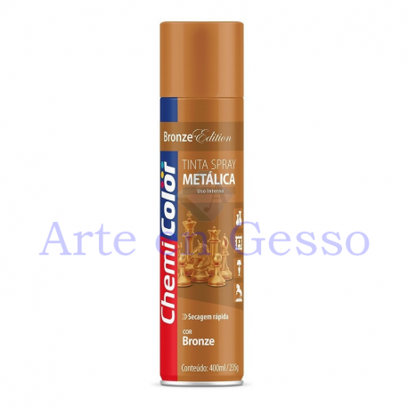 TINTA SPRAY METALICA BRONZE - 400 ML